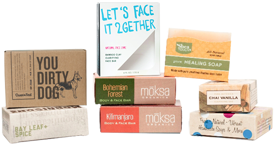Soap packaging presentation